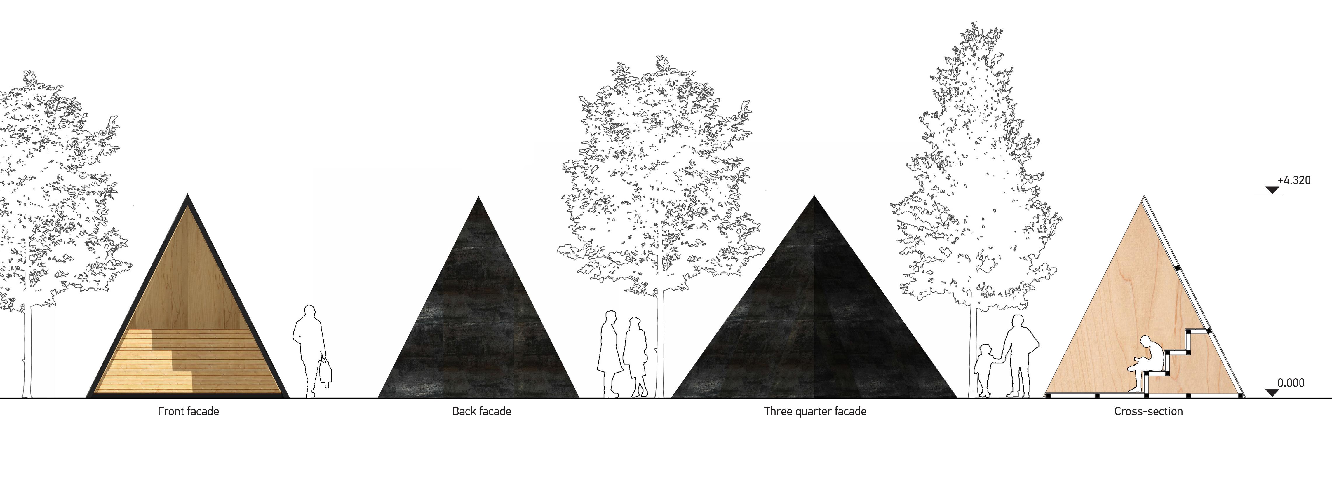 facade / pyramid