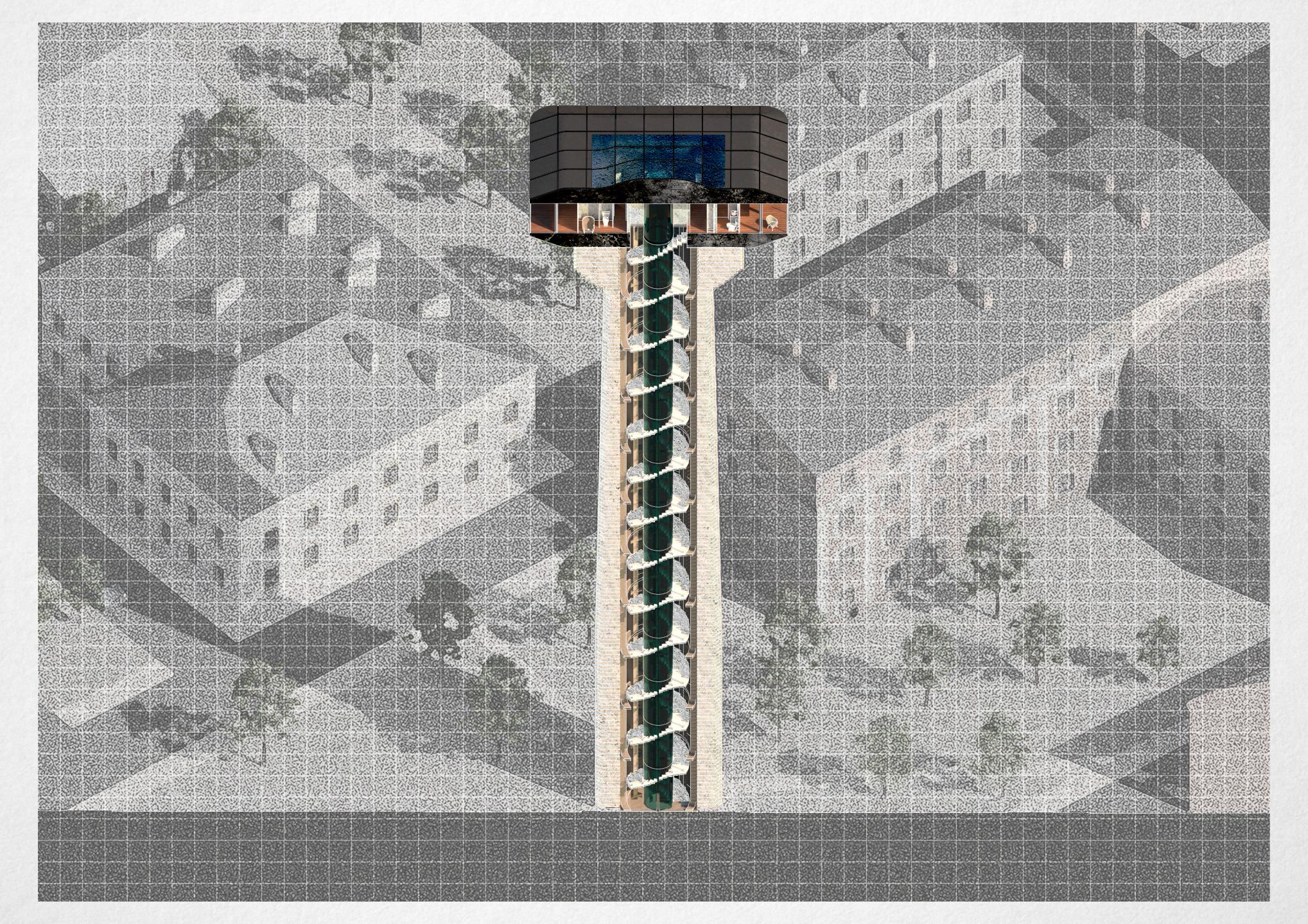 Башня / Разрез